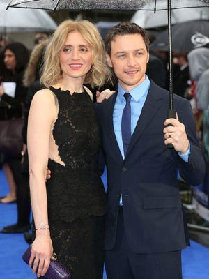 James McAvoy and Anne-Marie Duff at 2014 London premiere of 'X-Men: Days of Future Past.'