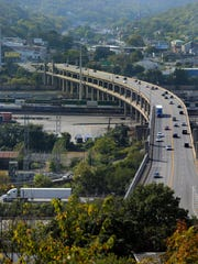 The Western Hills Viaduct carries nearly 71,000 vehicles