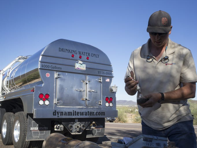 Damon Bruns of Dynamite Water tests water quality on