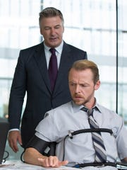 Alec Baldwin and Simon Pegg in 'Mission: Impossible