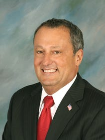 Councilman Al Manforti, selected by fellow council members as Toms River's Council President for 2017.