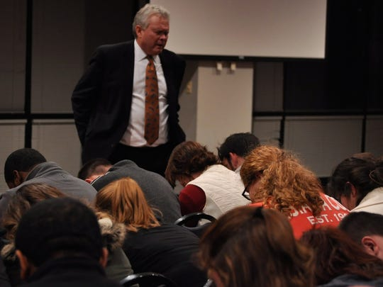 Louisiana College students Thursday evening had their first meeting with Rick Brewer who earlier that day was unanimously named president of the school by its Board of Trustees.