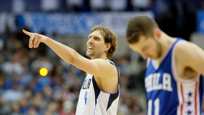 Dirk Nowitzki (41) and the Mavericks picked up wins against Cleveland and San Anotnio, bolstering hope in an otherwise dismal season.