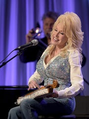 "Dolly Parton performs during a pre-taping for the ""Dolly"