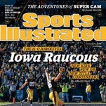 The regional cover of Sports Illustrated, featuring the Iowa Hawkeyes.