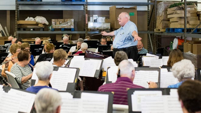 Larry Swanson and the West Valley Community Band use the Valley View Community Food Bank for rehearsals and encourage food donations.