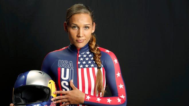 Sep 30, 2013; Park City, UT, USA; Team USA bobsled  competitor Lolo Jones during a portrait session during the Team USA Media Summit at Canyons Grand Summit Hotel. Mandatory Credit: Russ Isabella-USA TODAY Sports ORG XMIT: USATSI-142620 ORIG FILE ID:  20130929_rvr_ai4_044.jpg