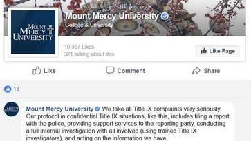 Student criticizes Mount Mercy for closing her sexual assault case. Police are still investigating.