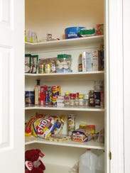 The pantry post de-cluttering.