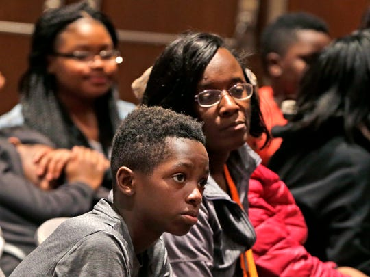 Students from three Sherman Park area schools watch
