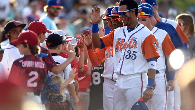 The annual Jackie Robinson Celebration Game was played Saturday, April 15, 2017, between the St. Lucie Mets and the Florida Fire Frogs at Historic Dodgertown in Vero Beach.