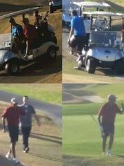 President Barack Obama golfed at the Stadium Course