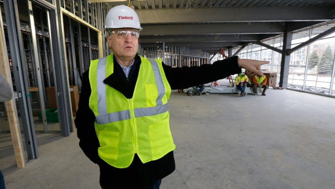 Bader Rutter CEO Greg Nickerson talks about the marketing company's upcoming move from Brookfield to downtown Milwaukee as work is done on the new headquarters at the old Laacke & Joys site, 1433 N. Water St.