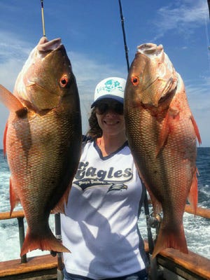 Anglers aboard the Lady Chris out of Taylor Creek Marina expect to find mutton snapper biting again by Friday.