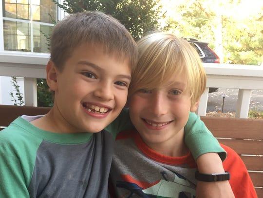 Max Chwatko, left, and Alex Travin, 8-year-old third-graders