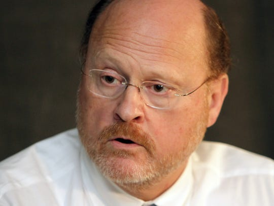 Joseph J. Lhota with the Editorial Board in 2012 when