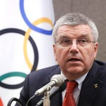 International Olympic Committee (IOC) President Thomas Bach speaks during a press conference in Seoul, South Korea.