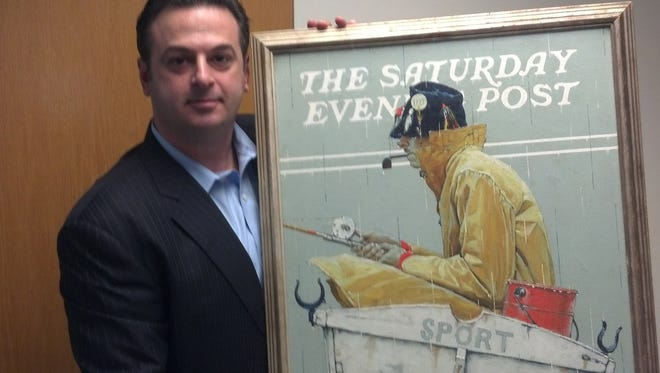 """Private investigator Dean Golemis recovered Norman Rockwell's """"Sport,"""" which had been stolen from a storage facility in Queens, N.Y. The painting sold for more than $1 million at auction months before it was stolen. Golemis drove 500 miles to Ohio to recover the painting."""