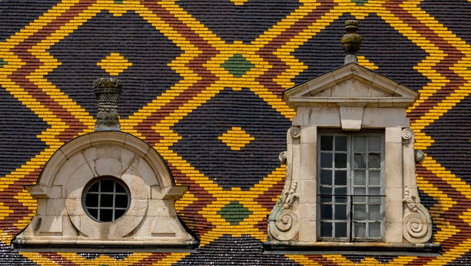Mosaic roof on the Hospice de Beaune.