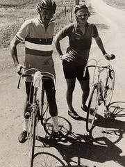 The two founders of RAGBRAI, John Karras, left, and