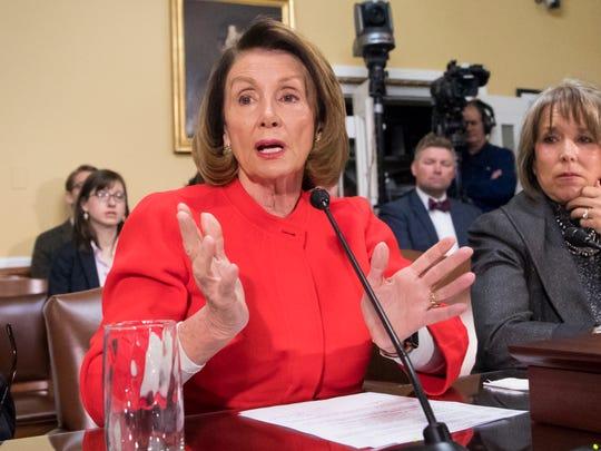 House Minority Leader Nancy Pelosi, D-Calif.,  appears