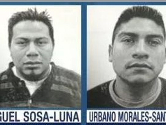 Police released these photos in the spring of four