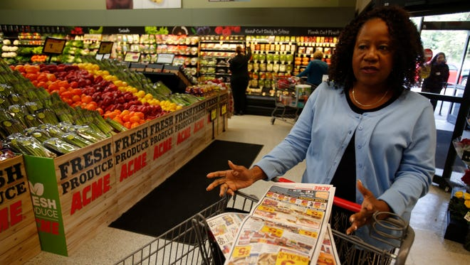 Abbie Cosby of Hartsdale talks about the new ACME supermarket in Greenburgh on Oct. 11, 2015.   The site was one of over 300 A&P supermarkets that were sold off.  ACME has purchased close to 100 of the supermarkets in the region.