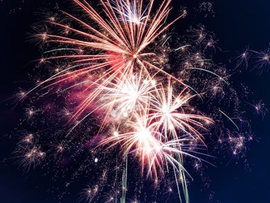 Fireworks start at 10 p.m. Tuesday at the Packard Proving