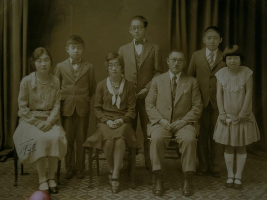 A family photo of the Obata family from 1930 taken