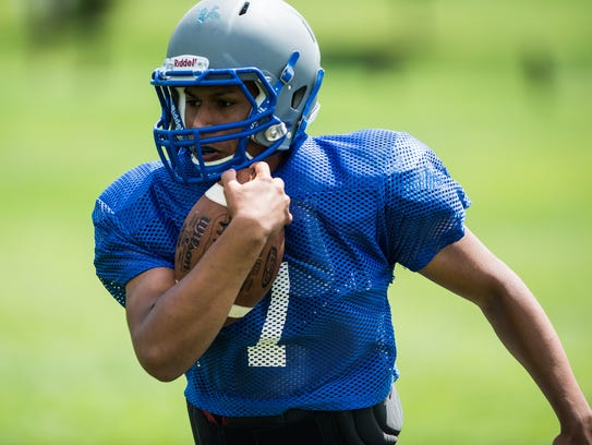 Running back  AJ Apple is set to be Cedar Crest's primary