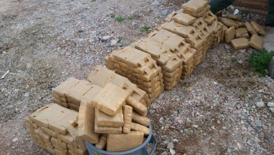 Border Patrol agents from the Deming Station uncovered 295.8 pounds of packaged marijuana in Columbus, NM with a street value of $236,640.