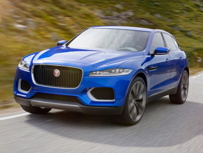 The Jaguar C-X17 Sports Crossover Concept, Jag;s first-ever SUV concept. It was unveiled at the Frankfurt, Germany, Motor Show.