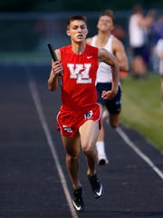 West Lafayette middle distance runner Mitchell Curl.