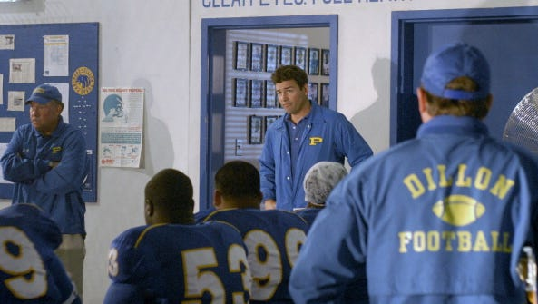 Kyle Chandler as Eric Taylor.