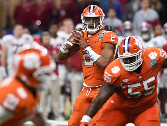 Clemson quarterback Kelly Bryant (2) during the 4th
