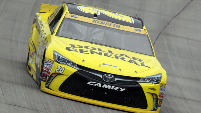 Matt Kenseth earned his fourth pole of the season Friday at Charlotte Motor Speedway.