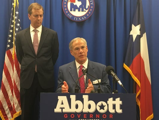 Jimmy Blacklock and Gov. Greg Abbott
