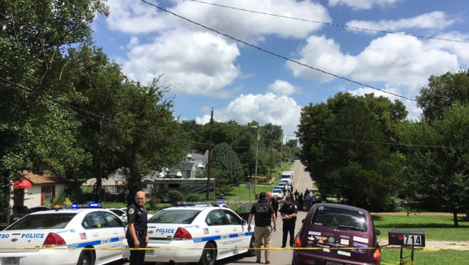 Scene of double fatal shooting on Chickasaw Avenue in East Nashville