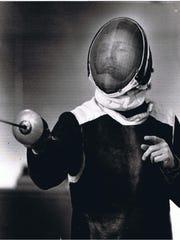 Nick Evangelista teaching fencing in the 1990s.