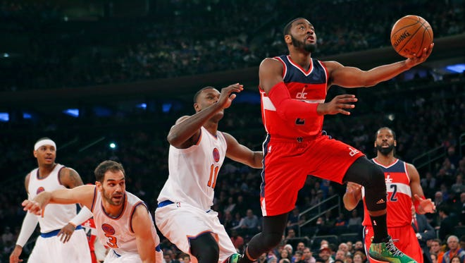 John Wall and the Wizards made things look easy Thursday against the Knicks.
