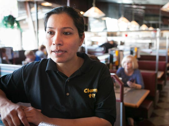 Charcoal Pit employee Arjuman Begum who's been serving Joe Biden over the years talks about him making the announcement that he will not be running for President.