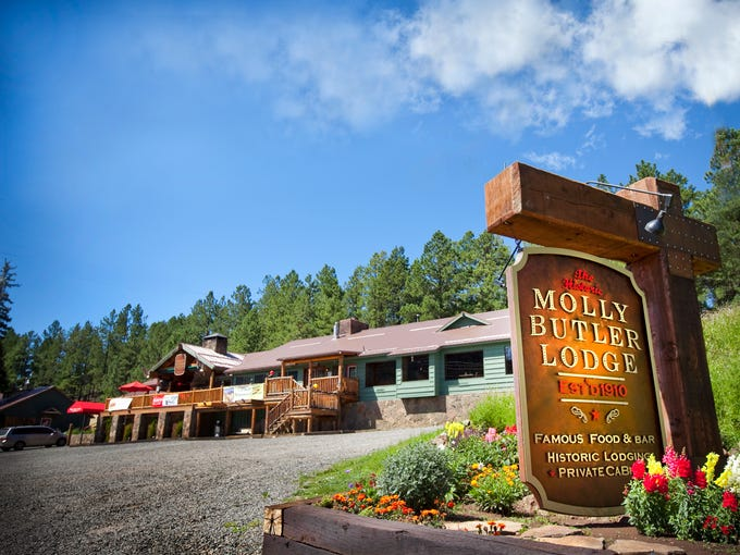 The historical Molly Butler Lodge on Main Street in