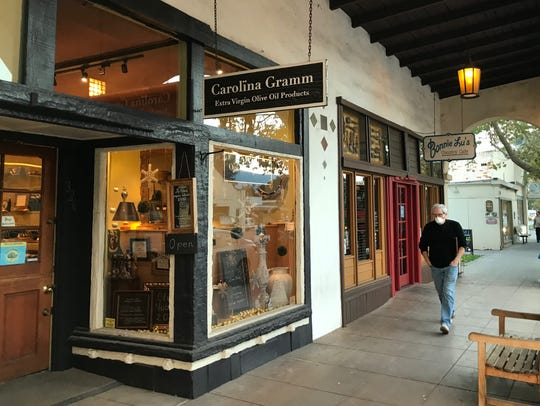 A downtown Ojai store that sells olive oil was open
