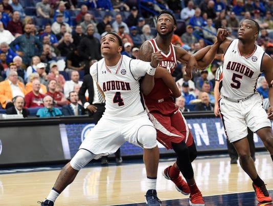 USP NCAA BASKETBALL: SEC CONFERENCE TOURNAMENT-AUB S BKC USA MO