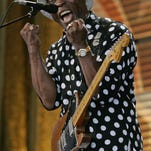 Buddy Guy performs at New Brunswick's State Theatre on Wednesday night.