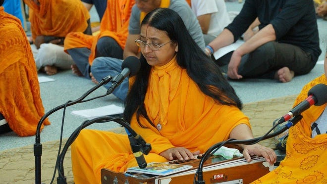 Siddheshvari Devi is a senior teacher for Jagadguru Kripalu Parishat, founder of Yugal Kunj, and president of Radha Madhav Society.