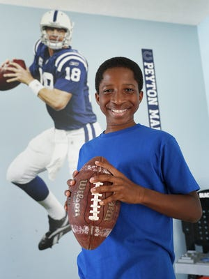 Lex Lumpkin is an 11-year-old child actor from Fishers who recently acted in  television ads with former Indianapolis Colts quarterback Peyton Manning.