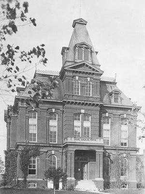 Sanilac County's original courthouse burned down in January 1915. Here it is pictured in 1911.