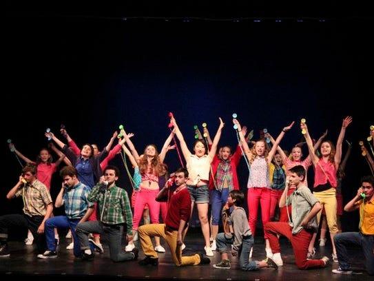Cast of young performers workshop Bye Bye Birdie (Spring