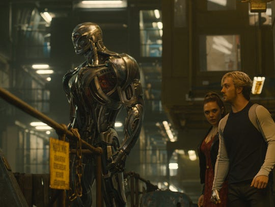 Marvel's Avengers: Age Of Ultron..L to R: Ultron (voiced